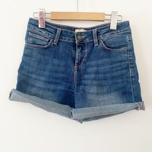 Zara basic Jean shorts roll up  distressed short